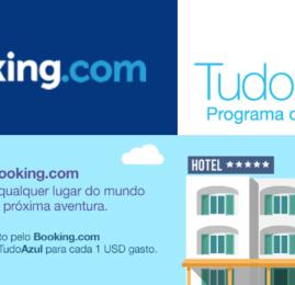 Azul e Booking.com firmam parceria para acúmulo de pontos