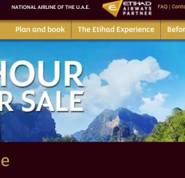 96 horas de promoção! Etihad oferece até 30% de desconto nas passagens