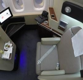 Primeira Classe da Qantas no A380 – Londres para Dubai