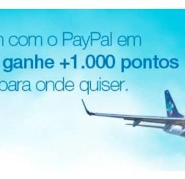 Azul oferece pontos extras para quem pagar as passagens com PayPal