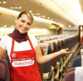 TAM inaugura voo direto entre São Paulo e Barcelona