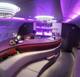 Primeira Classe da Qatar Airways no A380 – Bangkok para Doha