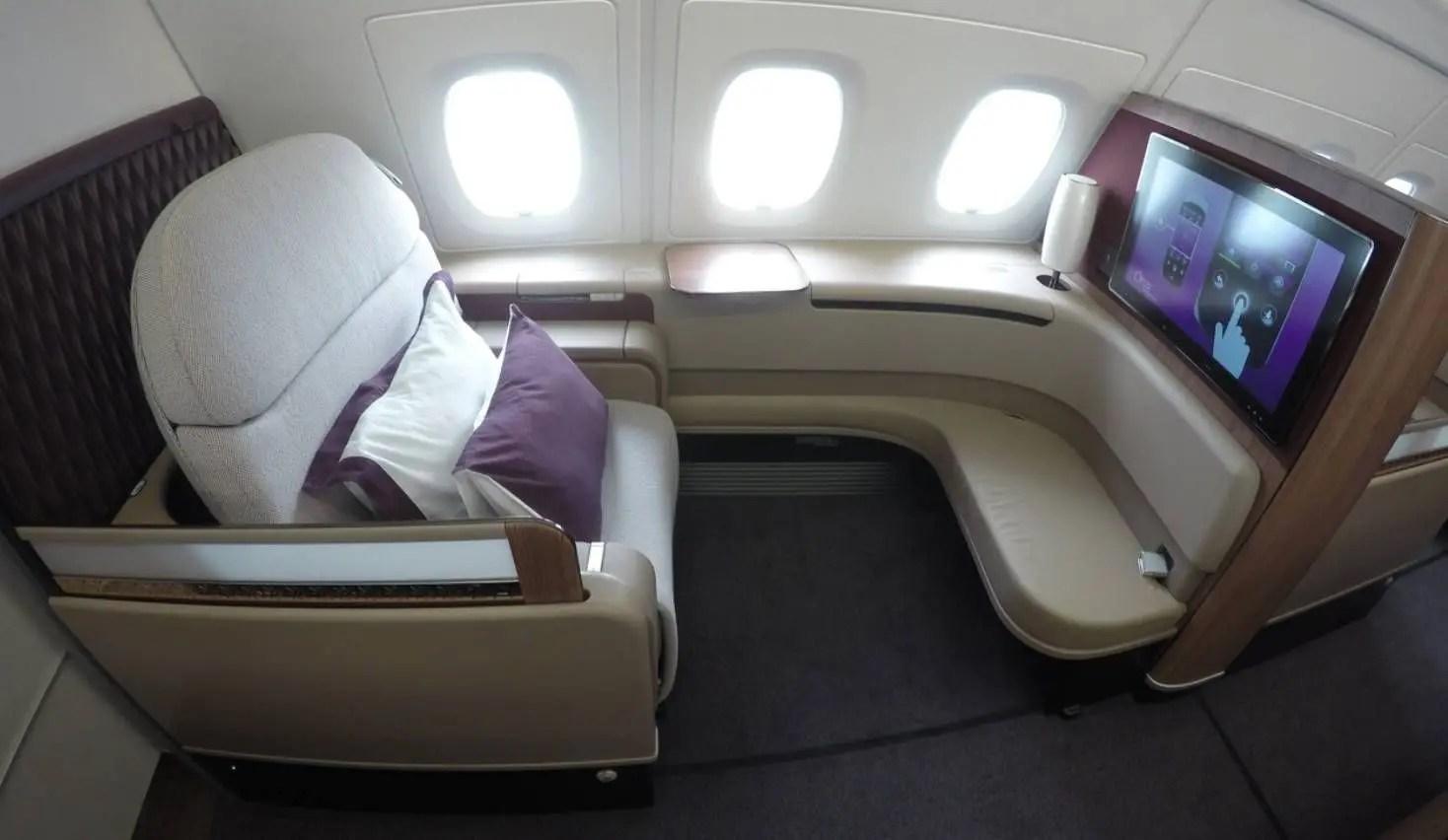 Qatar Airways A380 - Primeira Classe