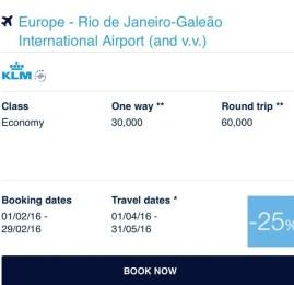 Air France e KLM oferece até 50% de desconto em passagens de classe executiva para Europa usando milhas do Flying Blue