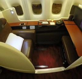 Primeira Classe da Japan Airlines (JAL) no B777-300ER – Londres para Tokyo