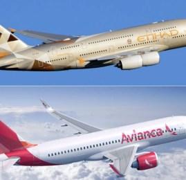 Etihad Airways e Avianca Brasil anunciam acordo de compartilhamento de vôos e programas de fidelidade