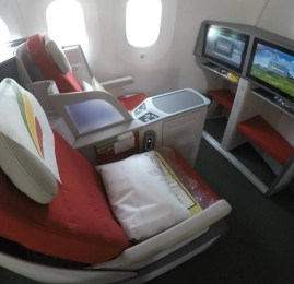 Classe Executiva da Ethiopian Airlines no B787 – Zanzibar para Addis Ababa
