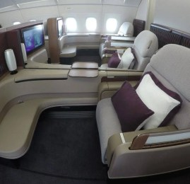 Primeira Classe da Qatar Airways no A380 – Doha para Sydney