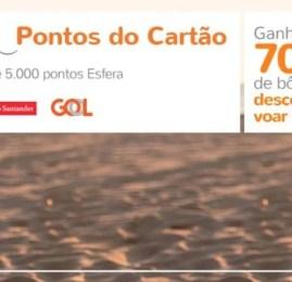 Santander e Smiles – 70% de bônus na transferência + desconto para voar GOL