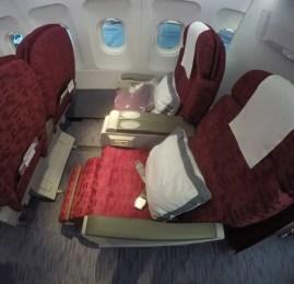 Primeira Classe da Qatar Airways (intra-Golfo) – Doha para Kuwait