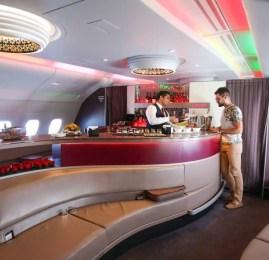 Primeira Classe da Qatar no A380 – Bangkok para Doha