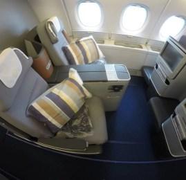 Classe Executiva da Lufthansa no A380 – Miami para Frankfurt