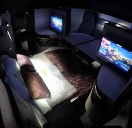 Classe Executiva – Qsuite – da Qatar Airways no B77W – Seoul para Doha