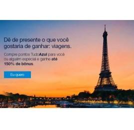 TudoAzul oferece até 150% de bônus na compra de pontos