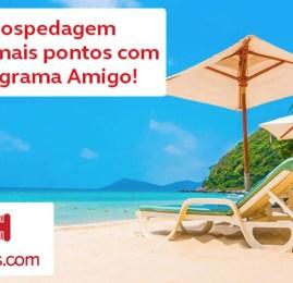 AMIGO oferece até 12 pontos por dólar gasto no Hoteis.com