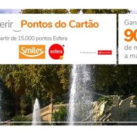 UFA! Smiles oferece até 90% de bônus para transferências do Santander Esfera