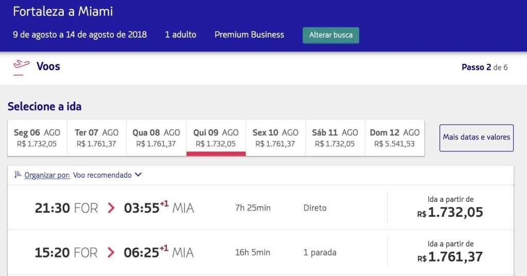 Conseguimos achar Fortaleza p  Miami por R 3.358,00 (ida e volta). Notem  que é possível escolher os voos que fazem conexão em GRU – até mesmo  operados pela ... 6475d246a0