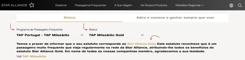 status aliança aérea