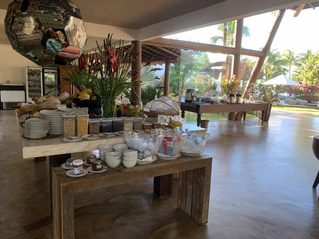 Café da manhã no Campo Bahia