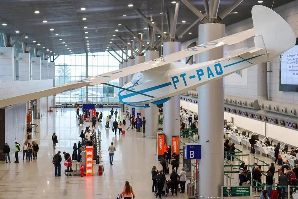 Planador no Aeroporto de Porto Alegre