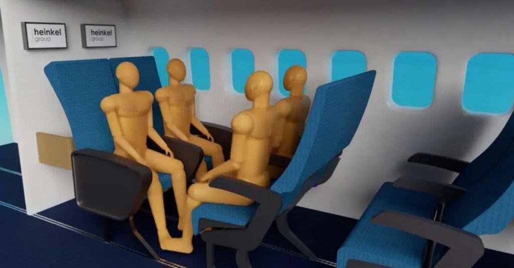 cadeiras com layout flexivel em classe economica