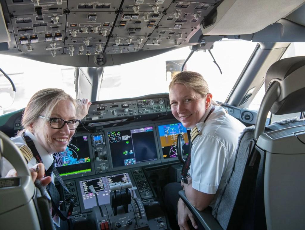 dia internacional da mulher mulheres comandantes air canada
