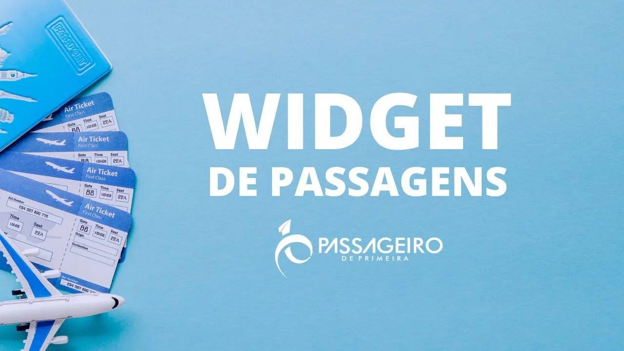 widget de passagens