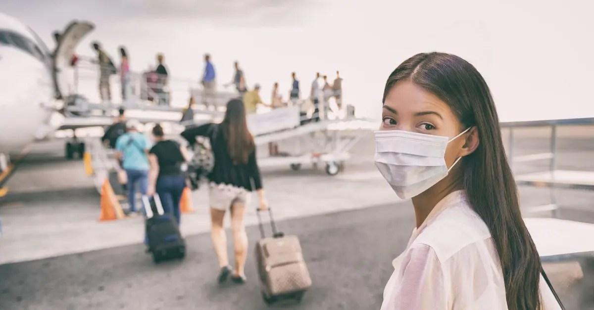 passageiro máscara viajante