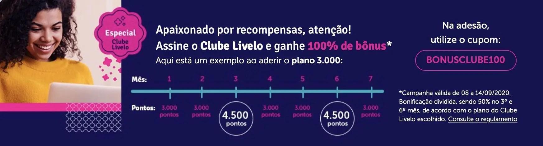 Clube Livelo 50% bônus