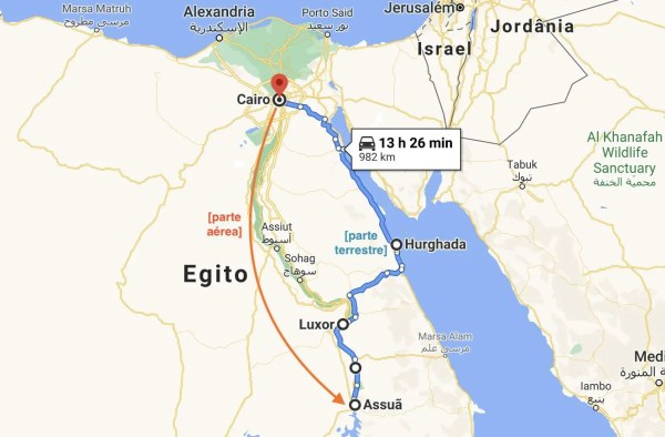 mapa do Egito