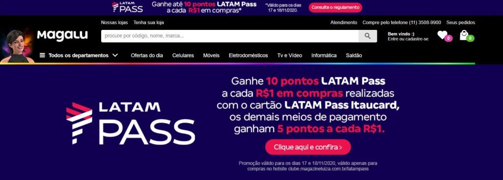 latam pass magalu