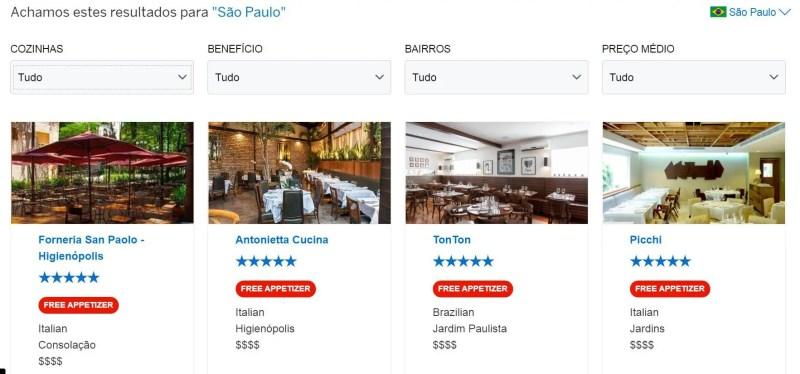 American Express desconto restaurantes