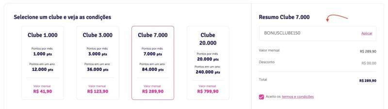 Clube Livelo 75% bônus