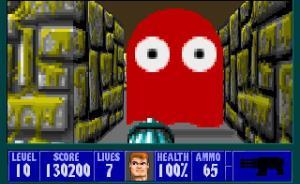 Fantasma de Pac-Man em Wolfenstein 3D