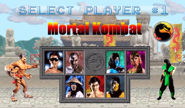 Select Player 1 - Mortal Kombat