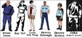 Desenho dos personagens principais do game