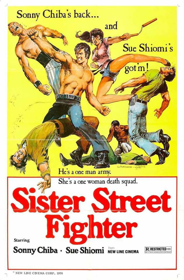 "Pôster do filme ""Sister Street Fighter"""