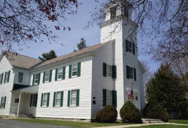 The Fort Miller Reformed Church, depicted here, was constructed in 1816 and still bears the original slate roof. Archive available by appointment. Photo by: Andrew Alberti