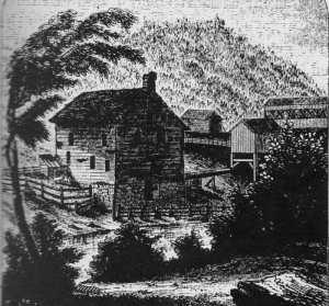 "Van Schaick Mill. Illus in Lossing, Benson John, ""Pictorial Field-Book of the American Revolution"""