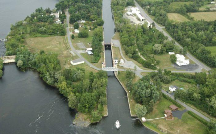 Looking North at Champlain Canal Lock 6. Courtesy of Marinas.com.