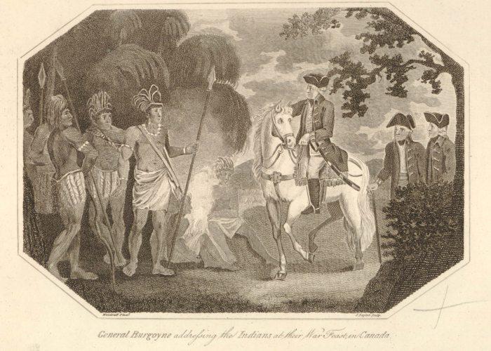 Burgoyne Congress with Indians in Canada British Museum