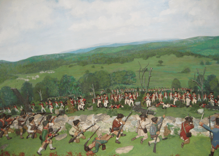 Diorama of the Battle of Hubbardton. Courtesy of Vermont. Division for Historic Preservation