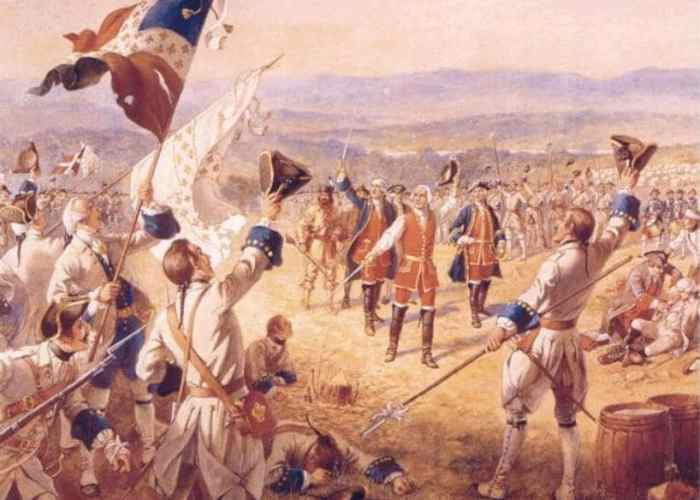 The Victory of Montcalm's Troops at Carillon by Henry Alexander Ogden.