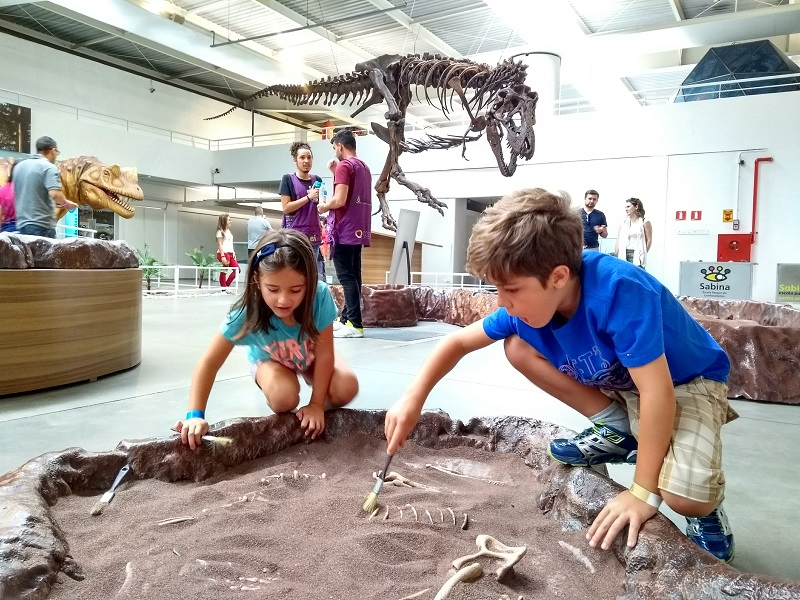 Parque Sabina tem pinguins, dinossauros e experimentos