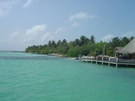 Pontão nas Maldivas