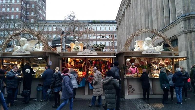 Entrada para o Mercado de natal na Alemanha.