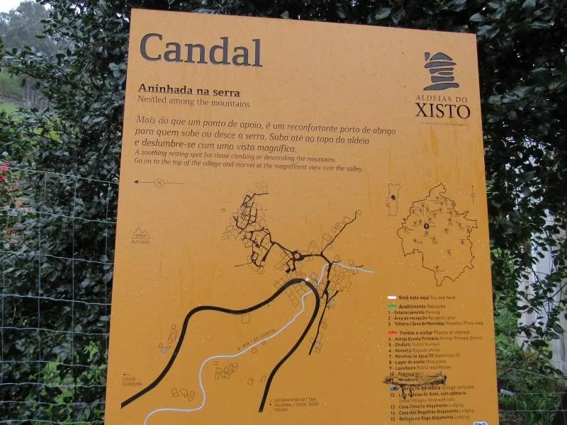 Mapa da Aldeia do Candal