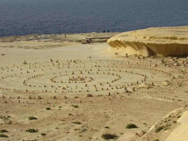 vista das salinas em malta