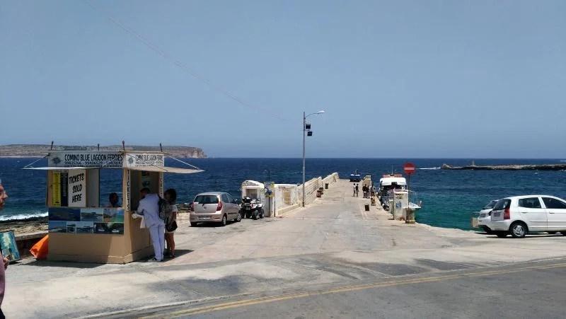 Bilheteira para o ferry de Comino