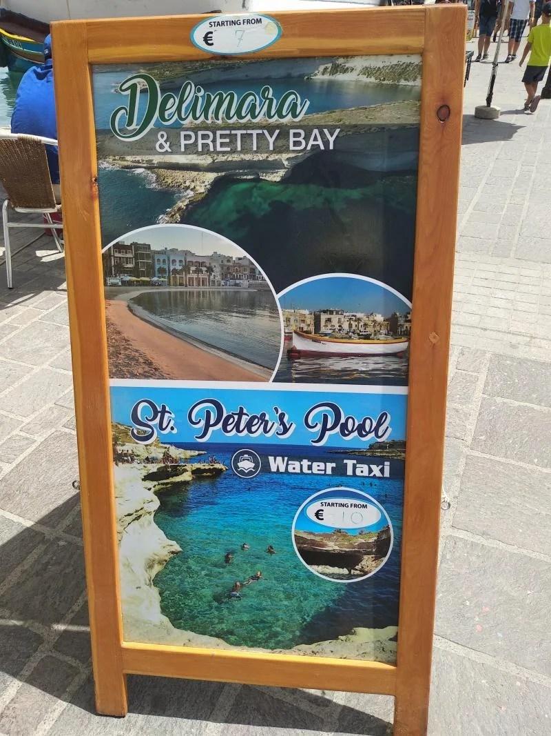 cartaz tour para piscinas naturais
